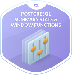 PostgreSQL Summary Stats & Window Functions