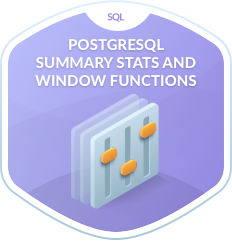 PostgreSQL Summary Stats and Window Functions
