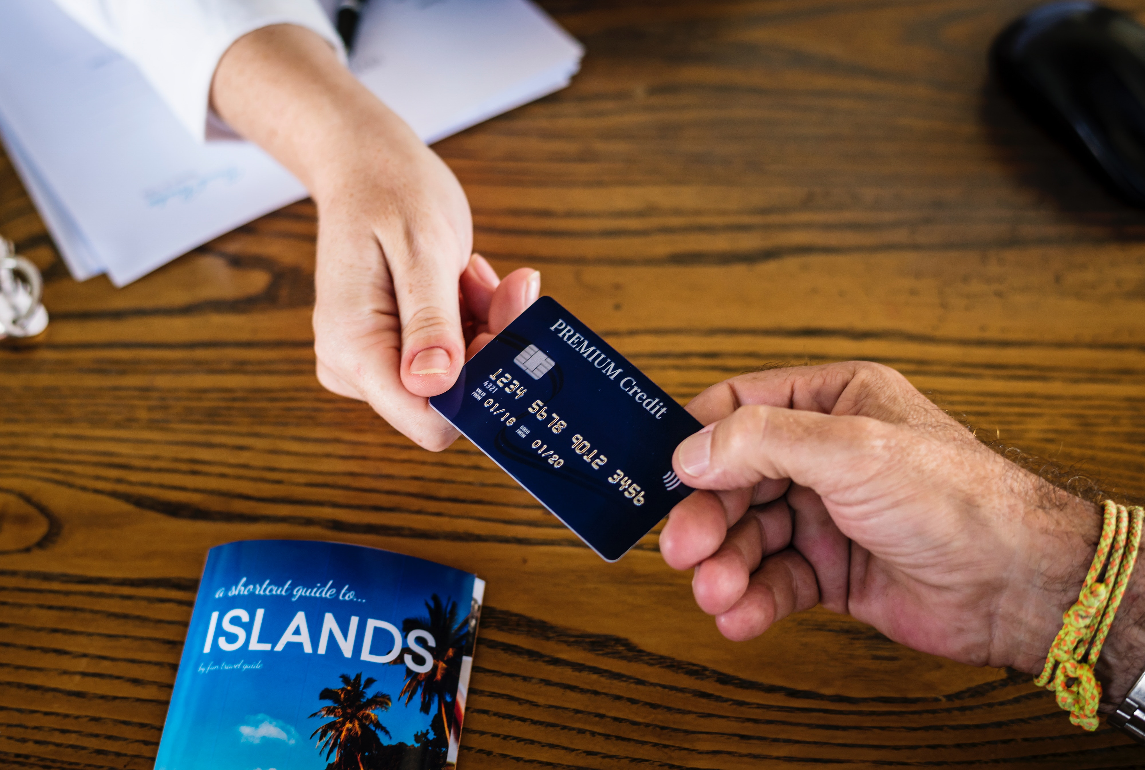Credit card being held in hand