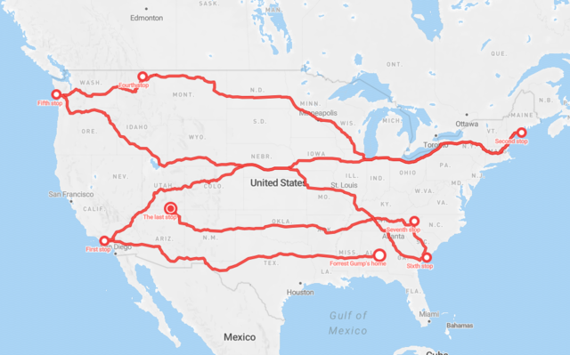 Forrest's route