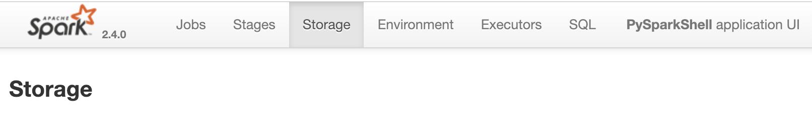 Spark UI Storage