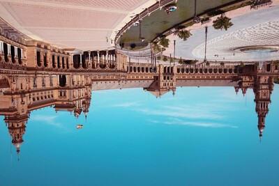 City of Seville upside-down